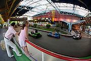 The Prater, Vienna's famous luna park. Go-Kart racetrack.