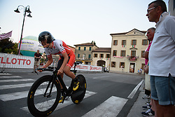 Doris Schweizer (Cylance Pro Cycling) at Giro Rosa 2016 - Prologue. A 2 km individual time trial in Gaiarine, Italy on July 1st 2016.