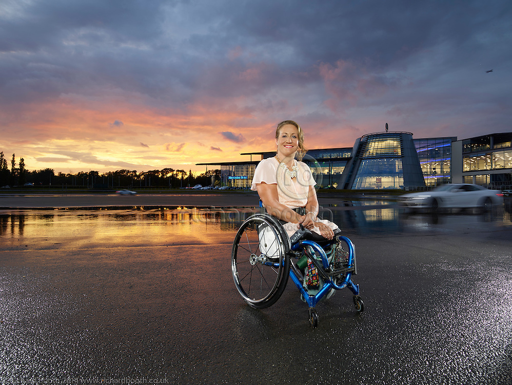 Rachel Morris at Mercedes Benz World Multi Paralympic Champion Rachel Morris