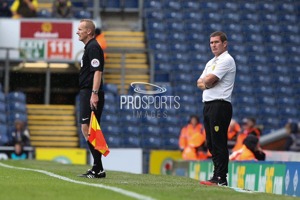 Burton Albion manager Nigel Clough during the EFL Sky Bet Championship match between Blackburn Rovers and Burton Albion at Ewood Park, Blackburn, England on 20 August 2016. Photo by Simon Brady.
