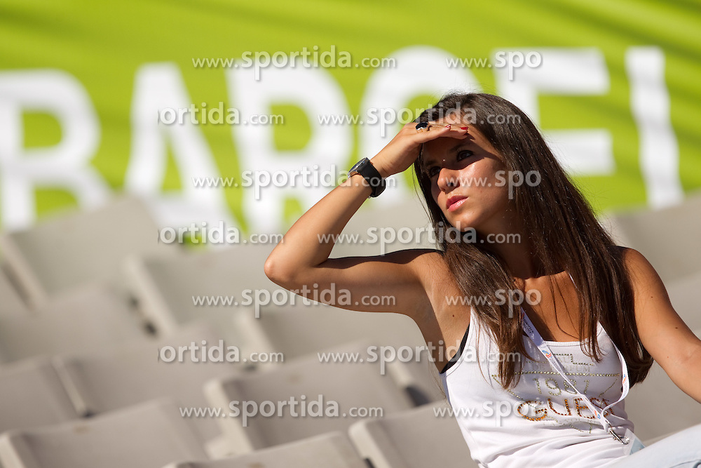 Spectator during day one of the 20th European Athletics Championships at the Olympic Stadium on July 27, 2010 in Barcelona, Spain. (Photo by Vid Ponikvar / Sportida)