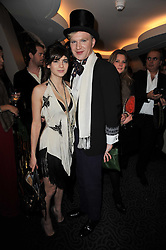 MARTHA FREUD and HENRY CONWAY at Quintessentially's 10th birthday party held at The Savoy Hotel, London on 13th December 2010.