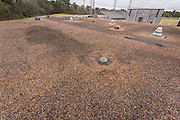 Roof of field house in need of replacement at North Forest High School, February 23, 2015.