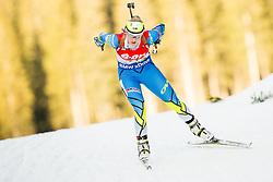 Kristel Viigipuu of Estonia competes during Women 7.5 km Sprint at day 1 of IBU Biathlon World Cup 2014/2015 Pokljuka, on December 18, 2014 in Rudno polje, Pokljuka, Slovenia. Photo by Vid Ponikvar / Sportida