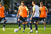 Leeds United midfielder Mateusz Klich (6) warming up during the Pre-Season Friendly match between Guiseley  and Leeds United at Nethermoor Park, Guiseley, United Kingdom on 11 July 2019.