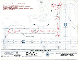 Taxiway 'J, S, U' Rehabilitation at Bradley International Airport. CT DOT Project # 165-481. Progress Construction View, Submission Four and Final, Construction Progress, August 25, 2015. Key Plan.
