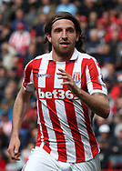 Joe Allen of Stoke City in action against West Ham United during the Premier League match at the Bet 365 Stadium, Stoke-on-Trent.<br /> Picture by Michael Sedgwick/Focus Images Ltd +44 7900 363072<br /> 29/04/2017