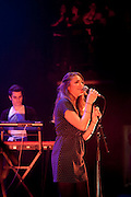 Paris, France. June 18th 2012.Margaux Avril performs for the first time in public, at Le Cafe de la Danse..