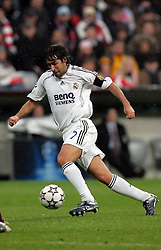 Munich, Germany - Wednesday, March 7, 2007: Real Madrid's Raul in action against Bayern Munich during the UEFA Champions League First Knock-out Round 2nd Leg at the Allianz Arena. (Pic by Christian Kolb/Propaganda/Hochzwei) +++UK SALES ONLY+++