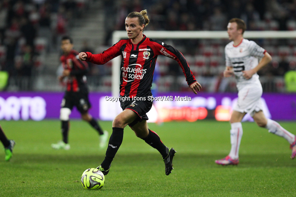 Niklas HULT - 03.12.2014 - Nice / Rennes - 16eme journee de Ligue 1 -<br /> Photo : Jean Christophe Magnenet / Icon Sport