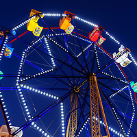 Ferris Wheel at the Balboa Fun Zone in Newport Beach California. The Balboa Fun Zone Ferris Wheel is a popular attraction in Orange County Southern California. Photo is high resolution. Copyright ⓒ 2017 Paul Velgos with All Rights Reserved.