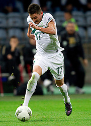 Andraz Kirm of Slovenia during football match between National Teams of Slovenia and Serbia of UEFA Euro 2012 Qualifying Round in Group C on October 11, 2011, in Stadium Ljudski vrt, Maribor, Slovenia.  Slovenia defeated Serbia 1-0. (Photo by Vid Ponikvar / Sportida)