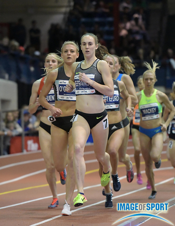 Feb 11, 2017; New York, NY, USA; Alexa Efraimson (USA) places ninth in the Wanamaker women's mile in 4:29.54 during the 110th Millrose Games at The Armory.