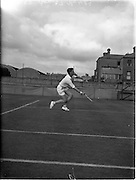 30/08/1952<br /> 08/30/1952<br /> 30 August 1952<br /> Tennis - Irish National Junior Championships at Fitzwilliam Tennis Club, Appian Way, Dublin. Cecil Pedlow, Queens University, Belfast, Irish Senior Boys Tennis Champion.