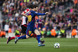 March 18, 2018 - Barcelona, Spain - BARCELONA, SPAIN - MARCH 18: 10 Leo Messi from Argentina of FC Barcelona during La Liga match between FC Barcelona v Atletic de Bilbao at Camp Nou Stadium in Barcelona on 18 of March, 2018. (Credit Image: © Xavier Bonilla/NurPhoto via ZUMA Press)