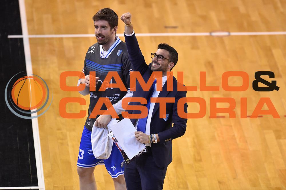 Maffezzoli Massimo<br /> Germani Basket Brescia vs Enel Brindisi<br /> Lega Basket Serie A 2016/2017<br /> Brescia 11032017<br /> Foto Ciamillo-Castoria/G. Ciamillo