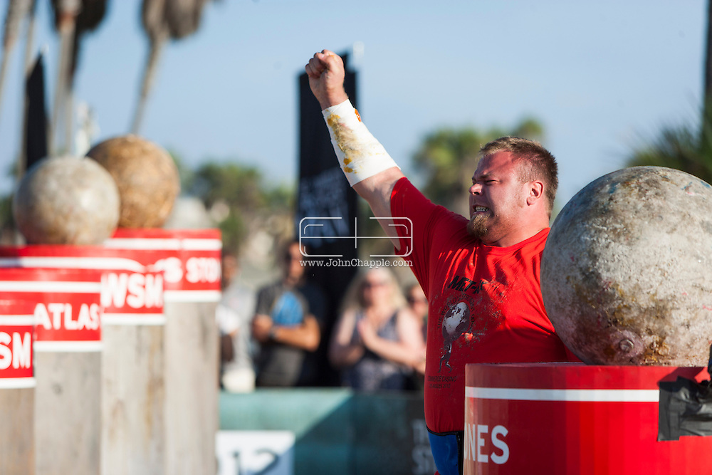 September, 2012. Los Angeles, California.  The 2012 MET-Rx World's Strongest Man competition, saw 30 international competitors battle it out in Los Angeles, to win the ultimate strongman title...Photo John Chapple / © IMG Media Ltd..
