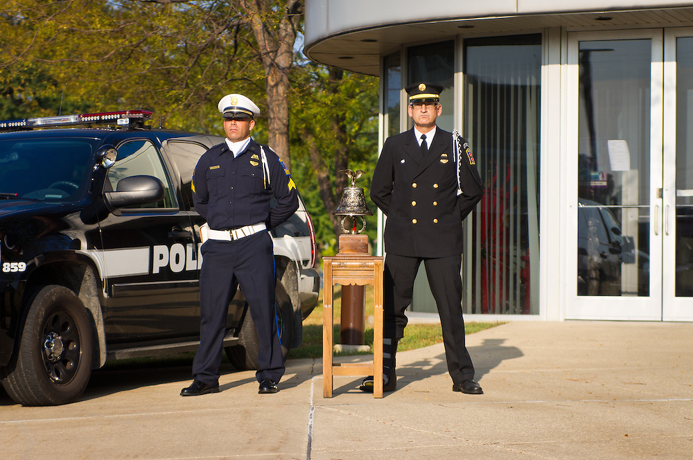 Decatur Fire Department pays tribute to the victims of 9-11 at Firestation number 1 in Decatur, Illinois