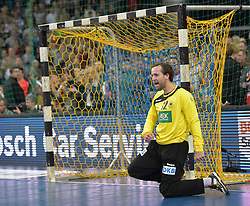 11.03.2016, Leipzig, GER, Handball Länderspiel, Deutschland vs Katar, Herren, im Bild Silvio Heinevetter (GER #12) // during the men's Handball international Friendlies between Germany and Qatar in Leipzig, Germany on 2016/03/11. EXPA Pictures © 2016, PhotoCredit: EXPA/ Eibner-Pressefoto/ Modla<br /> <br /> *****ATTENTION - OUT of GER*****