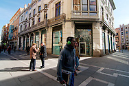 Streets of Zamora on a winter day.