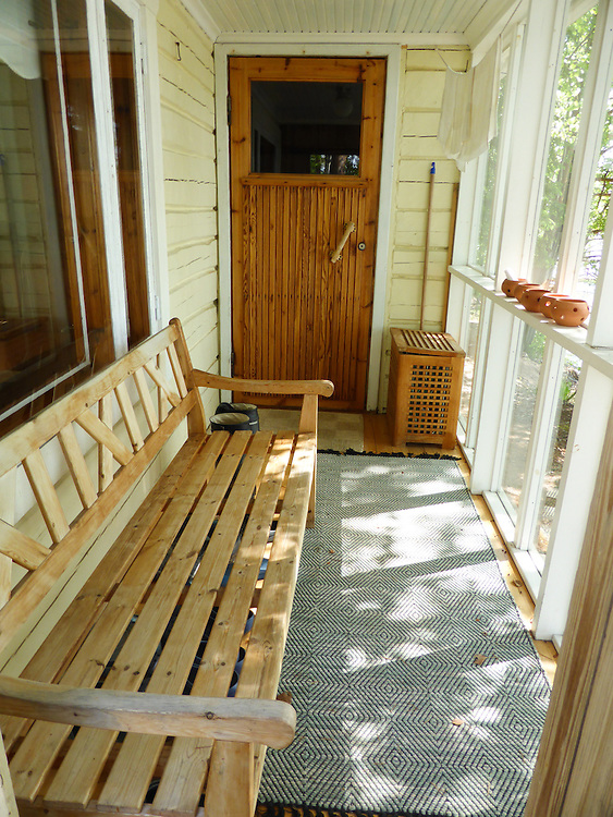 The sauna with a big bedroom where my parents used to sleep.
