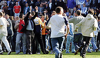 Photo: Paul Thomas.<br /> Wigan Athletic v Portsmouth. The Barclays Premiership. 29/04/2006.<br /> <br /> Portsmouth's manager Harry Redknapp thanks the crowd as they invade the pitch.
