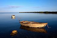 Boats in Niquero, Granma, Cuba.