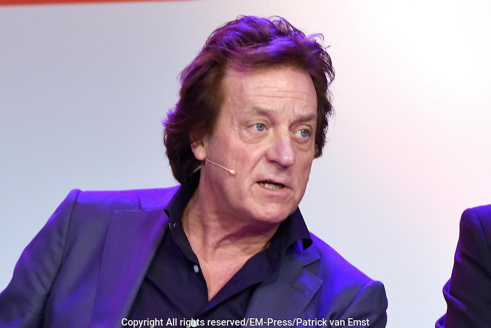 Lancering nieuw initiatief Nederlandse muziekmaat- schappijen- Hits NL, de Nederlandstalige streamingdienst in de Vorstin, Hilversum.<br /> <br /> Op de foto:  initiatiefnemer Tom Peters