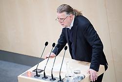 """28.02.2018, Hofburg, Wien, AUT, Parlament, Sitzung des Nationalrates unter anderem mit den Themen """"Universitätsgeset"""" und """"Budgetprovisorium 2018 und Bundesfinanzrahmengesetz 2017 bis 2020"""", im Bild Nationalratsabgeordneter Alfred Noll (Liste Pilz) // Member of the National Council Alfred Noll (Liste Pilz) during meeting of the National Council of austria at Hofburg palace in Vienna, Austria on 2018/02/28, EXPA Pictures © 2018, PhotoCredit: EXPA/ Michael Gruber"""