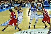 DESCRIZIONE : Brindisi A 2012-13 Enel Brindisi Scavolini Pesaro<br /> GIOCATORE : Scottie Reynolds Daniele Cavaliero <br /> CATEGORIA : Tecnica<br /> SQUADRA : Enel Brindisi Scavolini Pesaro<br /> EVENTO : Campionato Lega A 2012-2013 <br /> GARA : Enel Brindisi Scavolini Pesaro<br /> DATA : 11/11/2012<br /> SPORT : Pallacanestro <br /> AUTORE : Agenzia Ciamillo-Castoria/V.Tasco<br /> Galleria : Lega Basket A 2012-2013  <br /> Fotonotizia : Brindisi Lega A 2012-13 Enel Brindisi Scavolini Pesaro<br /> Predefinita :