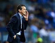 MALAGA, SPAIN - OCTOBER 29:  Head Coach of Celta de Vigo Juan Carlos Unzue reacts during the La Liga match between Malaga and Celta de Vigo at Estadio La Rosaleda on October 29, 2017 in Malaga, .  (Photo by Aitor Alcalde Colomer/Getty Images)