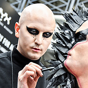 NYX demo at IMATS London on 18 May 2019,  London, UK.