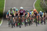 Competitors in action during the Prudential RideLondon Youths Grand Prix - Youth B Boys. Prudential RideLondon 28/07/2017<br /> <br /> Photo: Tom Lovelock/Silverhub for Prudential RideLondon<br /> <br /> Prudential RideLondon is the world's greatest festival of cycling, involving 100,000+ cyclists – from Olympic champions to a free family fun ride - riding in events over closed roads in London and Surrey over the weekend of 28th to 30th July 2017. <br /> <br /> See www.PrudentialRideLondon.co.uk for more.<br /> <br /> For further information: media@londonmarathonevents.co.uk