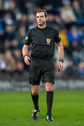 Referee Alan Muir during the Ladbrokes Scottish Premiership match between Heart of Midlothian FC and Aberdeen FC at Tynecastle Stadium, Edinburgh, Scotland on 29 December 2019.