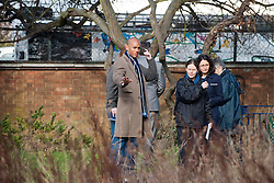 Chuka Umunna MP for Streatham and Shadow Secretary of State for Business, Innovation and Skills, With residents on Tulse Hill Estate, London, UK, 24 February, 2013. Photo by i-Images...
