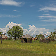 Village in Okavango Delta.