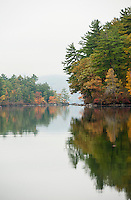 The beauty of Fall passage on Squam, Sandwich, New Hampshire.  ©2012 Karen Bobotas Photographer