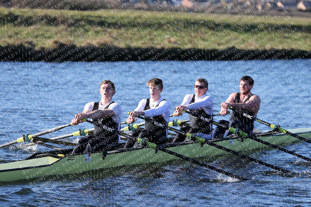 Reading University Boat Club. Championship Quad, BUCS Head 2012.