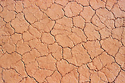 Detail of cracked soil on the playa at The Racetrack, Death Valley National Park, California