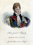 George IV (1762-1830) King of Great Britain and Ireland from 1820. Portrait from 'Memoirs of Caroline, Queen Consort of Great Britain' 1821.