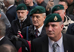 © Licensed to London News Pictures. 16/12/2016. London, UK. Supporters of Sgt Alexander Blackman wait for news of his bail hearing at The High Court. Sgt Alexander Blackman is currently serving a life sentence after being convicted of murdering a wounded Taliban fighter in Afghanistan in 2011. Photo credit: Peter Macdiarmid/LNP