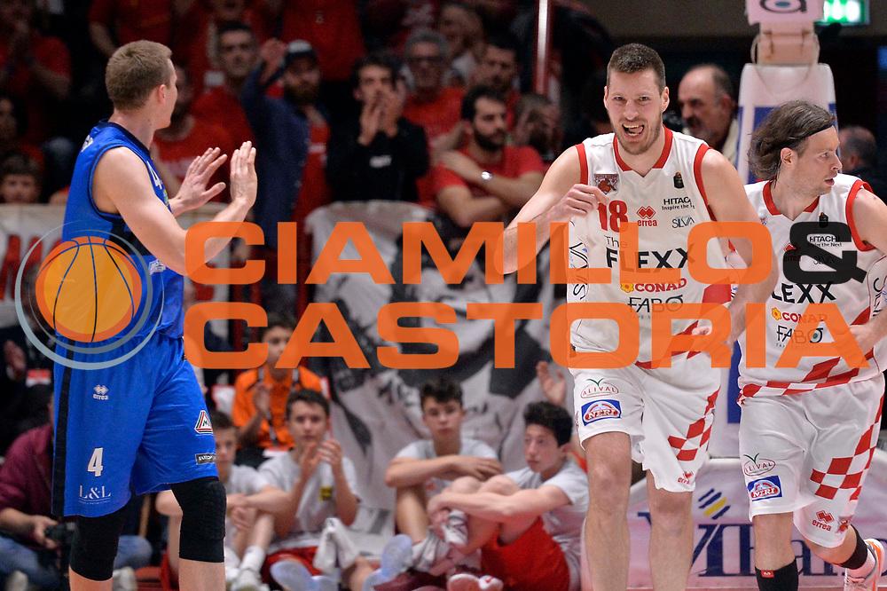 Daniele Magro<br /> The Flexx Basket Pistoia - Germani Leonessa Basket Brescia<br /> Lega Basket Serie A 2016/17<br /> Pistoia, 07/05/2017<br /> Foto Ciamillo - Castoria