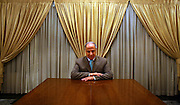 Iraqi politician Dr. Ahmed Chalabi poses for a portrait at his Mansour District home in Baghdad, Iraq October 18, 2006.