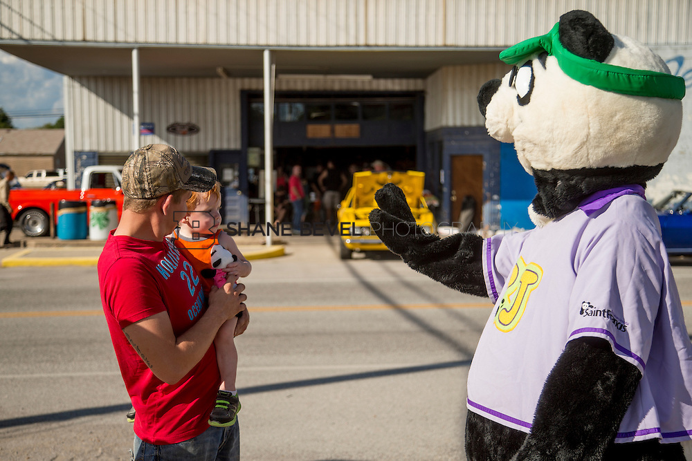 9/24/16 4:27:21 PM --  PJ Panda appears at a car show in Locust Grove for Children's Miracle Network. <br /> <br /> Photo by Shane Bevel