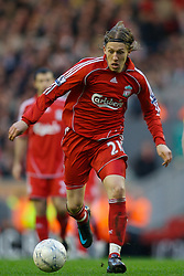 LIVERPOOL, ENGLAND - Saturday, January 26, 2008: Liverpool's Lucas Levia in action against Havant and Waterlooville during the FA Cup 4th Round match at Anfield. (Photo by David Rawcliffe/Propaganda)