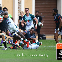 Tyler Paul of the Cell C Sharks during The Cell C Sharks warm up match with the  Vodacom Bulls, at Ashton International College Albertina Way, Dolphin Coast  Ballito - Kwazulu- Natal, South Africa 9th February 2019 (Photo by Steve Haag)