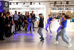 Artifex team perform at Evening event of Mimovrste shop in BTC, on February 28, 2020 in Ljubljana, Slovenia. Photo by Vid Ponikvar / Sportida
