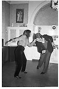 Lady Ann Lambton and Robert Fox, 1983© Copyright Photograph by Dafydd Jones 66 Stockwell Park Rd. London SW9 0DA Tel 020 7733 0108 www.dafjones.com