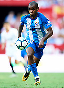 SEVILLE, SPAIN - SEPTEMBER 30:  Diego Rolan of Malaga CF in action during the La Liga match between Sevilla and Malaga at Estadio Ramon Sanchez Pizjuan on September 30, 2017 in Seville  (Photo by Aitor Alcalde Colomer/Getty Images)
