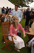 Maryam D'Abo, Cartier Style Et Luxe, Goodwood, 27 June 2004. SUPPLIED FOR ONE-TIME USE ONLY-DO NOT ARCHIVE. © Copyright Photograph by Dafydd Jones 66 Stockwell Park Rd. London SW9 0DA Tel 020 7733 0108 www.dafjones.com
